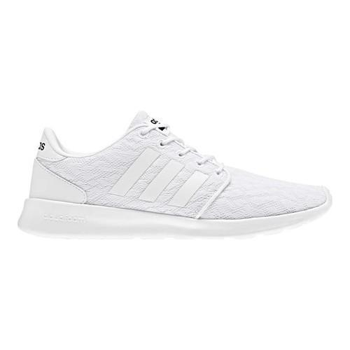 Women's adidas NEO Cloudfoam QT Racer Sneaker FTWR White/FTWR White