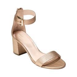 Women's Cole Haan Clarette Sandal Soft Gold Leather
