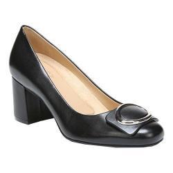 Women's Naturalizer Wright Block Heel Pump Black Leather
