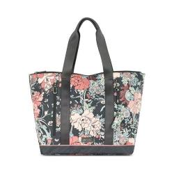 Women's Sakroots New Adventure Finch Large Tote Charcoal Flower Power