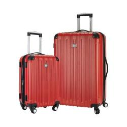 Travelers Club Madison 2-Piece Hardside Luggage Set Red