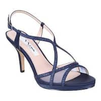 Women's Nina Blossom Slingback New Navy Satin