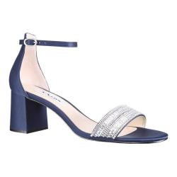 Women's Nina Elenora Block Sandal New Navy Satin (More options available)