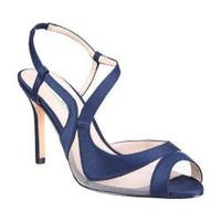Women's Nina Regina Slingback New Navy Satin