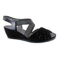 Women's ara Celia 37139 Wedge Sandal Black Nubuck