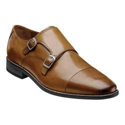 Men's Florsheim Montinaro Double Monk Strap Saddle Tan Smooth Leather