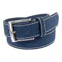 Men's Florsheim Suede Belt Blue Suede Leather