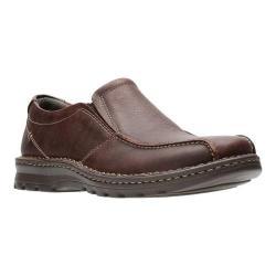 Men's Clarks Vanek Step Slip-On Brown Oily Full Grain Leather