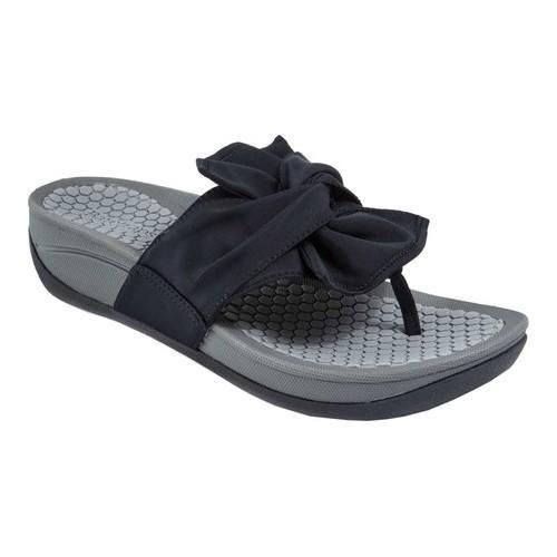 f8b654efd Shop Women s Bare Traps Dianna Thong Sandal Black Textile - Free Shipping  Today - Overstock - 20746814