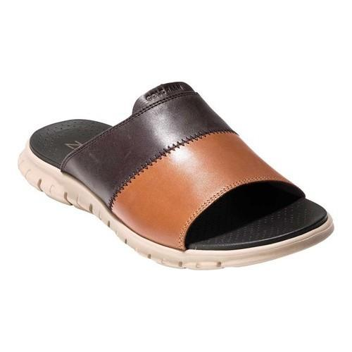 10a3f54ab9d2 Shop Men s Cole Haan ZEROGRAND Slide Dark Roast British Tan Leather Cobblestone  - Free Shipping Today - Overstock - 20746883