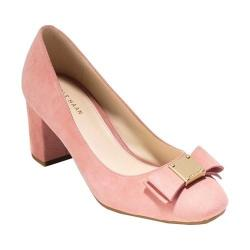 Women's Cole Haan Tali Bow Pump Coral Almond Suede