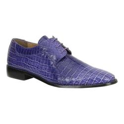 Men's Giorgio Brutini Herd Oxford Purple Crocodile Printed Synthetic