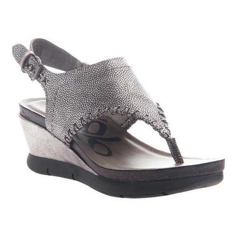 Women's OTBT Meditate Thong Sandal Silver Leather
