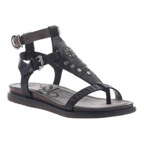 Women's OTBT Stargaze Ankle Strap Sandal Black Leather