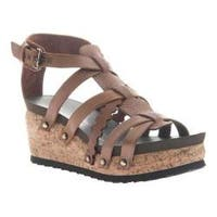 Women's OTBT Storm Strappy Sandal New Brown Leather