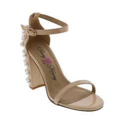 Women's Penny Loves Kenny Ruche Ankle Strap Sandal Nude Patent