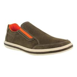 Men's Spring Step Concord Slip On Olive Green Suede (5 options available)