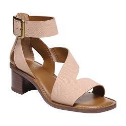 Women's Franco Sarto Lorelia Ankle Strap Sandal Peach Kaa Leather