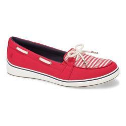 Women's Grasshoppers Windham Boat Shoe Red Canvas/Americana Stripe