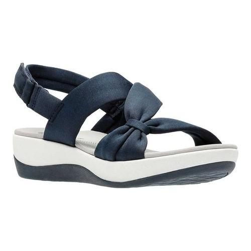 9b85f8af66b5 Shop Women s Clarks Arla Primrose Slingback Blue Heathered Fabric - On Sale  - Free Shipping Today - Overstock - 20754939