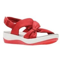 7c1998f4647 Women s Clarks Arla Primrose Slingback Red Heathered Fabric
