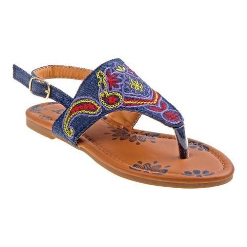 3c238ae1c6fd5 Shop Girls  Josmo 79406S Thong Sandal Denim Multicolored - Free Shipping On  Orders Over  45 - Overstock.com - 20692059