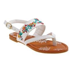 Girls' Josmo 79414S Thong Sandal White/Multicolored