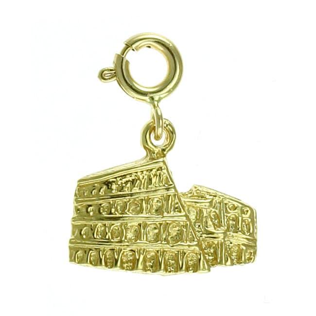 14k Yellow Gold Roman Colosseum Charm - Thumbnail 1