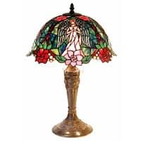 Tiffany-style Angel Table Lamp