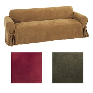 Classic Slipcovers Ultimate Suede Sofa Slipcover
