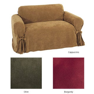 Ultimate Suede Loveseat Slipcover