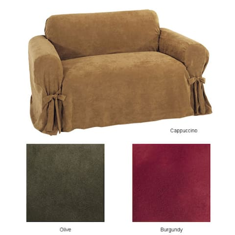 Classic Slipcovers Ultimate Suede Loveseat Slipcover