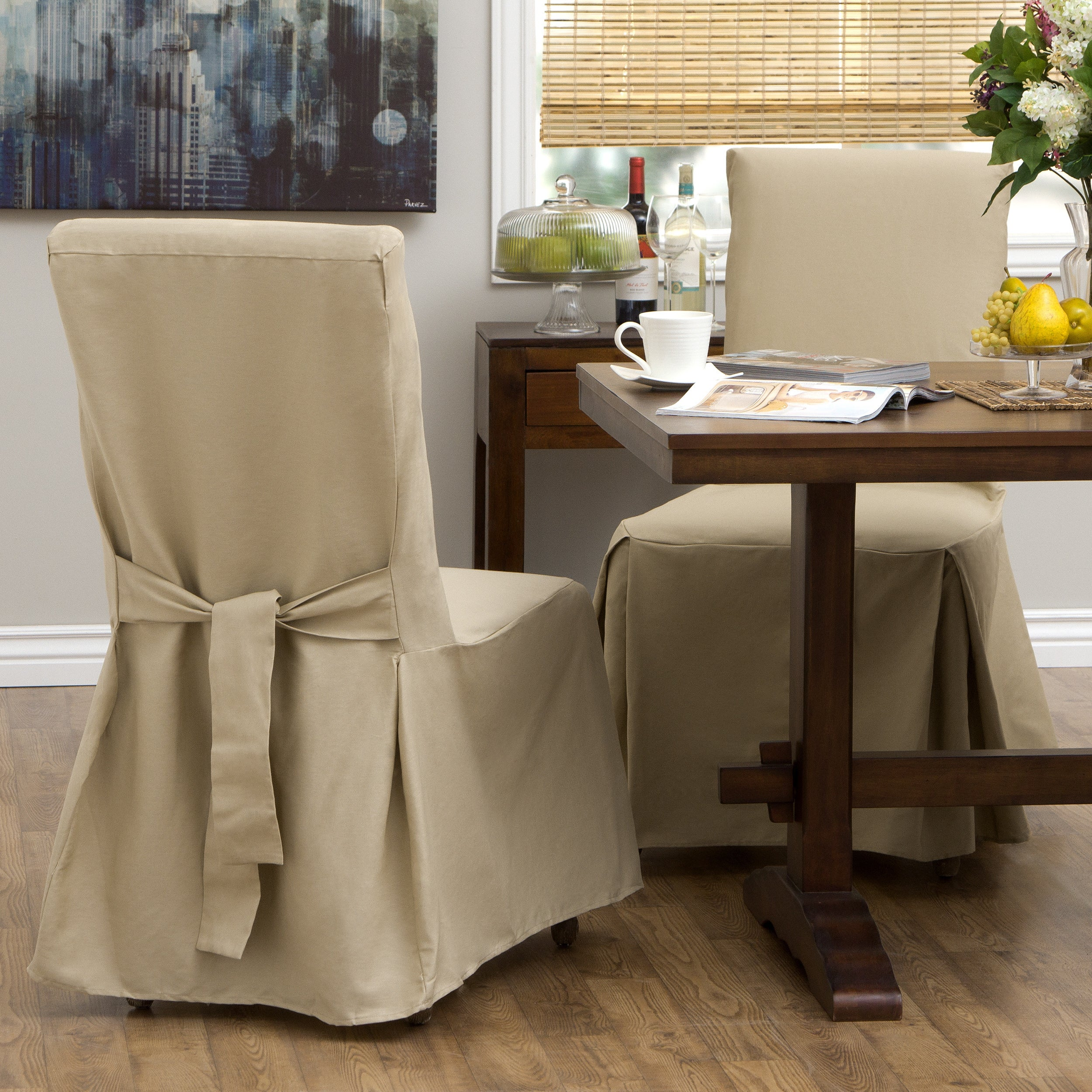 Classic Slipcovers Cotton Duck Parsons Chair Slipcover Pair On Sale Overstock 2442829