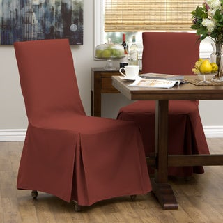 Cotton Duck Parsons Chair Slipcover Pair