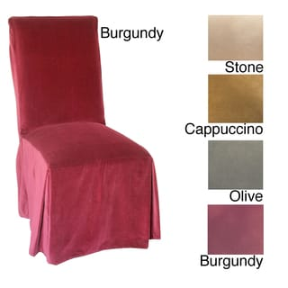 Microsuede Parsons Chair Slipcover (Set of 2)