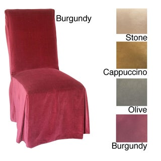 Classic Slipcovers Microsuede Parsons Chair Slipcover (Set Of 2) (4 Options  Available)