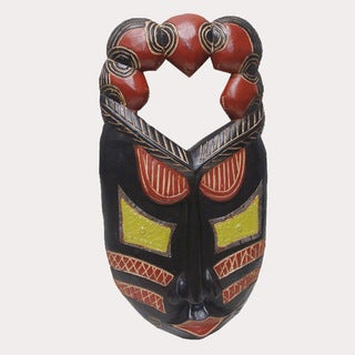 Handcrafted Festac Adwen Mask (Ghana)