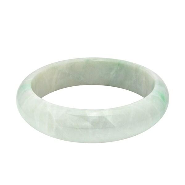 d696326dd26 Handmade Genuine Natural Jadeite Jade Lucky Rounded Bangle Bracelet  (Thailand)