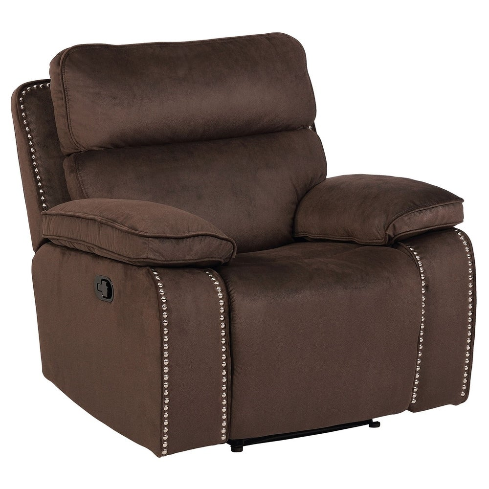 Stockton Brown Faux Leather Reclining Chair