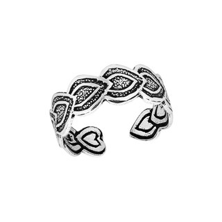 Handmade Infinite Affection Heart Link Sterling Silver Toe or Pinky Ring (Thailand)