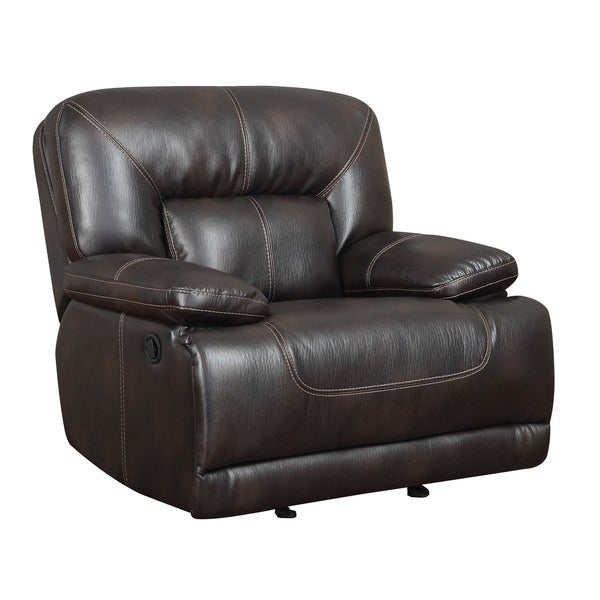 Tahoe Brown Faux Leather Recliner