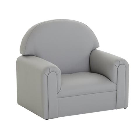 BrandNew World Toddler Enviro Child Polyurethane Upholstery Chair - Gray