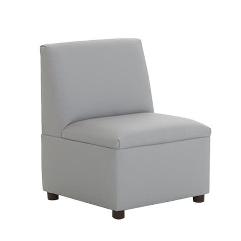 BrandNew World Modern Casual Enviro Child Polyurethane Upholstery Chair - Gray