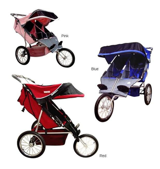 BeBeLove USA Evolution Double Jogger Stroller - Free ...