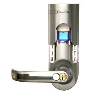 Silver Finish Left-handled Fingerprint Door Lock