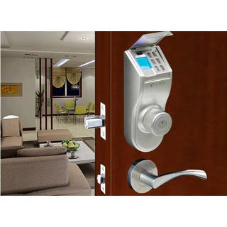 Fingerprint Silver Finished Right handled Deadbolt Lock|https://ak1.ostkcdn.com/images/products/2449164/P10677713.jpg?impolicy=medium