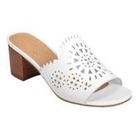 Women's Aerosoles Midsummer Slide Sandal White Leather