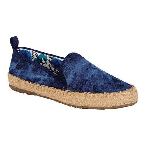 Women's EMU Gum Espadrille Sneaker Dark Denim Distressed Canvas