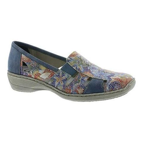 Women's Rieker-Antistress Doris 85 White/Multi/Adria Synthetic