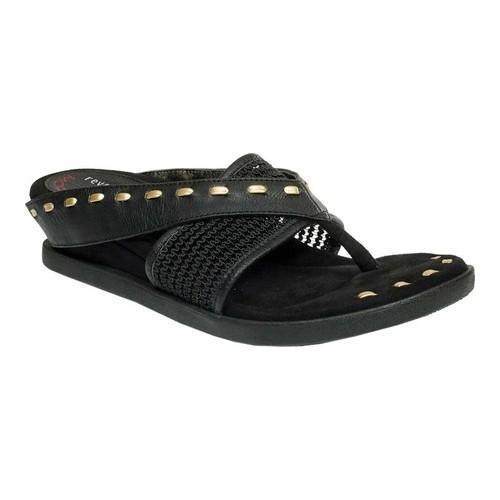596db0946d64 Shop Women s MODZORI Issa Thong Sandal Black Metallic Reversible - Free  Shipping Today - Overstock.com - 20816967